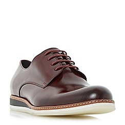 Dune - Dark red 'Benjy' wedge sole Gibson shoe