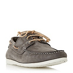 Dune - Grey 'Belize' lace up boat shoes