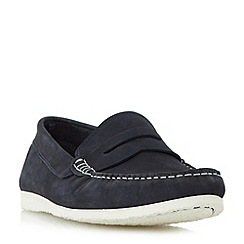 Dune - Navy 'Breeze' unlined penny loafers