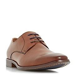 Dune - Tan 'Richmonds' square toe derby shoe