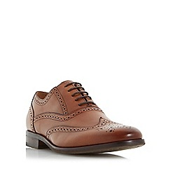 Dune - Tan 'Rugby' oxford brogue shoes