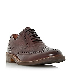 Dune - Maroon 'Roadie' grain leather brogue shoe