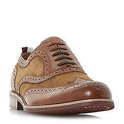 Dune - Tan 'Pudsey' leather and suede brogue shoes