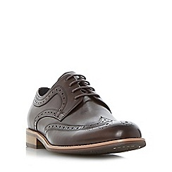 Dune - Brown 'Radcliffe' gibson brogue shoe