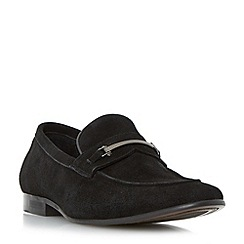 Dune - Black 'Pistol' metal snaffle trim loafers shoes