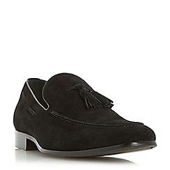 Dune - Black 'Rolands' chisel toe tassel loafer shoe
