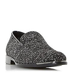 Dune - Silver 'Rockstar' glitter slipper cut loafer shoes
