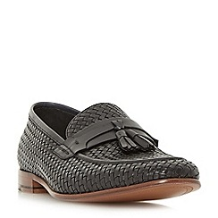 Dune - Black 'Paolo' woven tassel loafers