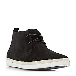 Dune - Black 'Cantero' espadrille trim chukka boot