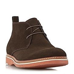 Dune - Brown 'Cisco' eva wedge sole chukka boots