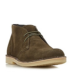 Dune - Khaki 'Calabassas' crepe sole desert boot