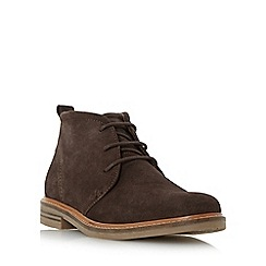 Dune - Brown 'Chadwick' round toe chukka boot