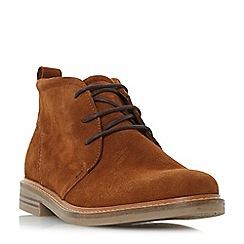 Dune - Tan 'Chadwick' round toe chukka boot