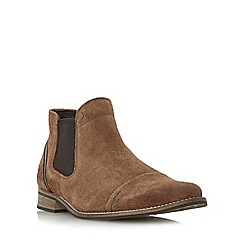 Dune - Tan 'Chili' toecap detail chelsea boot