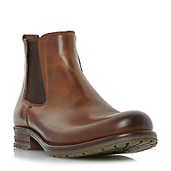 Dune - Tan 'Crusher' rugged Chelsea boot