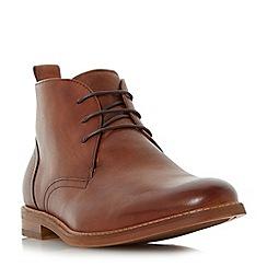Dune - Tan 'Magnus' round toe chukka boots