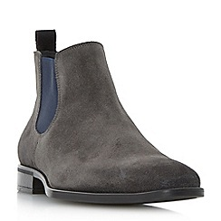 Dune - Grey 'Maritime' chisel toe chelsea boots