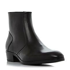 Dune - Black 'Maraca' Cuban heel zip boot
