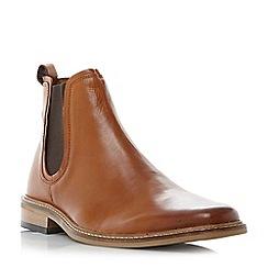 Dune - Tan 'Malaga' square toe chelsea boots