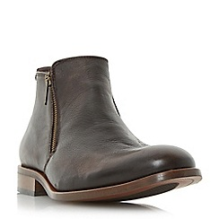 Dune - Brown 'Mackles' double side zip ankle boot