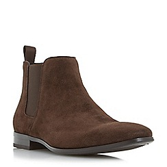 Dune - Brown 'Maida vale' chisel toe chelsea boots