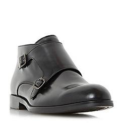 Dune - Black 'Mason' double buckle monk boot