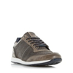 Dune - Grey 'Texas' mesh panel lace up trainer