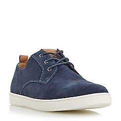 Dune - Navy 'Tucker' round toe suede trainer