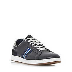 Dune - Navy 'Tag' striped webbing trainers