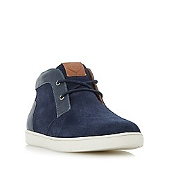 Dune - Navy 'Sebastian' high top chukka style trainer