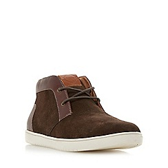 Dune - Brown 'Sebastian' high top chukka style trainer