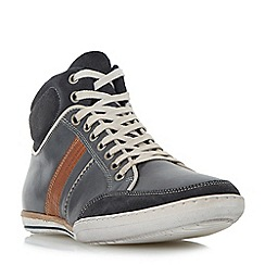Dune - Navy 'Shandy' padded collar high top trainer