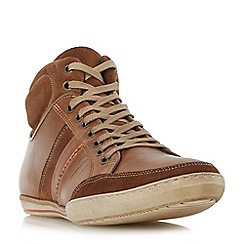 Dune - Tan 'Shandy' padded collar high top trainers