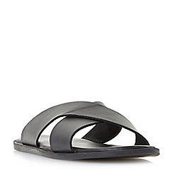 Dune - Black 'Iago' classic cross strap sandals