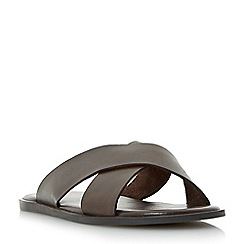 Dune - Brown 'Iago' classic cross strap sandals