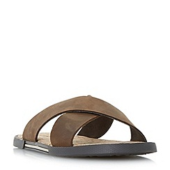 Dune - Brown 'Idaho' cork footbed sandals