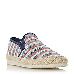 Dune - Red 'Funfair' striped canvas espadrille shoes