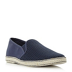Dune - Navy 'Fencing' mesh vamp espadrille shoes