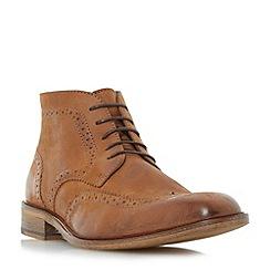 Bertie - Tan 'Canister' wingtip brogue boots