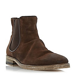 Bertie - Dark brown 'Chingy' washed Chelsea boot