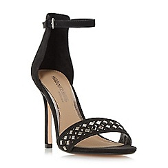 Head Over Heels by Dune - Black 'Marria' embellished cut out two part sandals