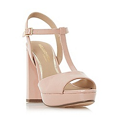 Head Over Heels by Dune - Natural 'Missy' t-bar platform sandals