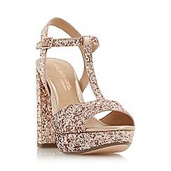 Head Over Heels by Dune - Rose 'Missy' t-bar platform sandals