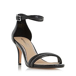 Head Over Heels by Dune - Black 'Mimossa' two part mid heel sandals