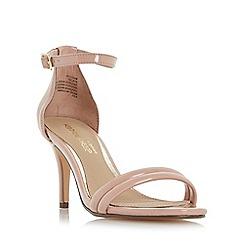 Head Over Heels by Dune - Natural 'Mimossa' two part mid heel sandals