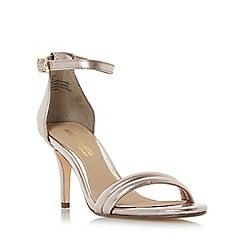 Head Over Heels by Dune - Rose 'Mimossa' two part mid heel sandals