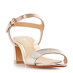 Head Over Heels by Dune - Rose 'Mandi' tube strap flared block heel sandals