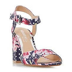 Head Over Heels by Dune - Multicoloured 'Mercii' two part block heel sandals