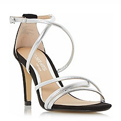 Head Over Heels by Dune - Silver 'Maggda' strappy colour pop high heel sandals