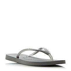 Havaianas - Grey '4000030' slim metallic flip flops
